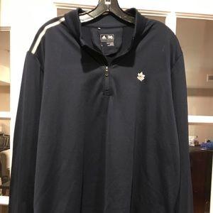 Adidas sports quarter zip sports blouse